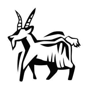 Goat listed in more animals decals.