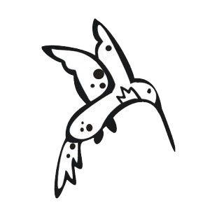 Hummingbird listed in more animals decals.