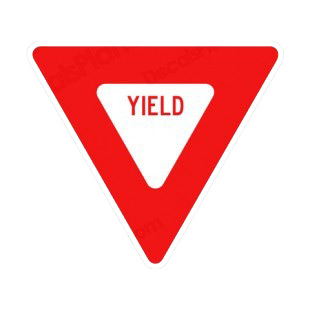 Yield traffic sign roa...