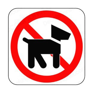 No dog allowed sign listed in other signs decals.