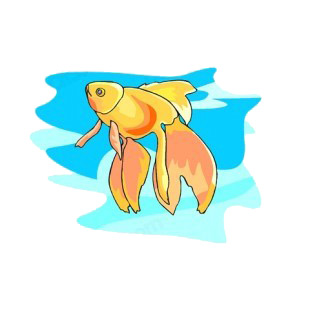 Goldfish underwater listed in fish decals.