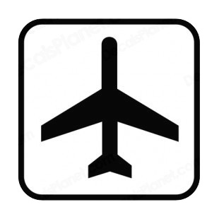 Air transportation sign listed in other signs decals.