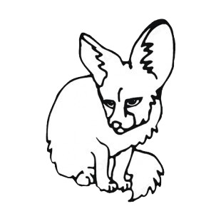 Fox cub sitting down listed in more animals decals.