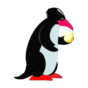 Penguin holding egg listed in penguins decals.