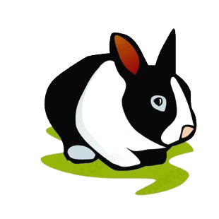 Black and white rabbit listed in rabbits decals.