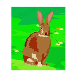 Brown hare sitting down listed in rabbits decals.