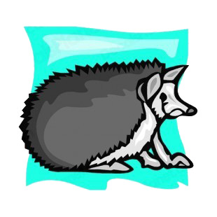 Grey hedgehog listed in rodents decals.