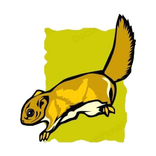 Brown squirrel  listed in rodents decals.