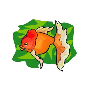Red goldfish listed in fish decals.