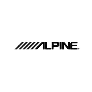 Alpine  listed in car audio decals.