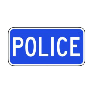 police station sign road signs decals decal sticker 8113