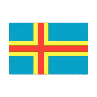 Aland Islands flag listed in flags decals.
