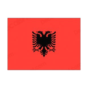 Albania flag listed in flags decals.
