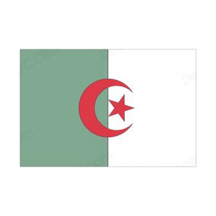 Algeria flag listed in flags decals.