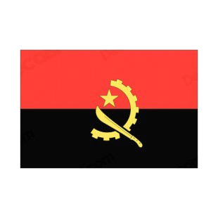 Angola flag listed in flags decals.