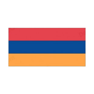 Armenia flag listed in flags decals.