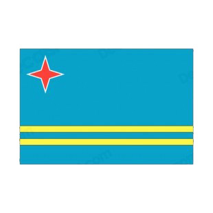 Aruba flag listed in flags decals.