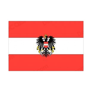 Austria flag listed in flags decals.
