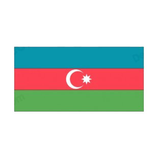 Azerbaijan flag listed in flags decals.