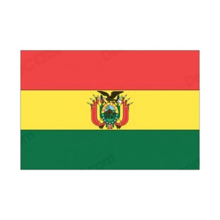 Bolivia flag listed in flags decals.