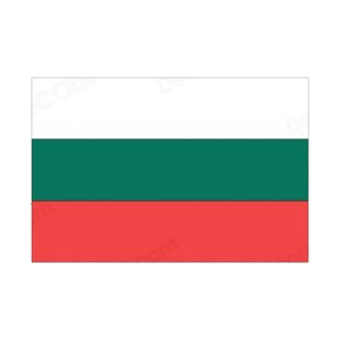 Bulgaria flag listed in flags decals.