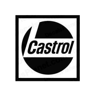 Castrol logo listed in famous logos decals.
