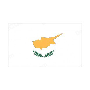 Cyprus flag listed in flags decals.
