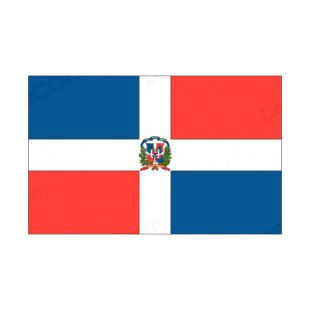 Dominican Republic flag listed in flags decals.