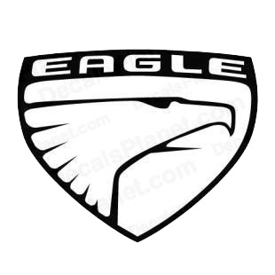 Eagle logo listed in famous logos decals.