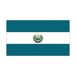 El Salvador flag listed in flags decals.