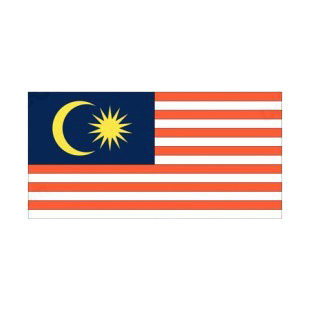 Malaysia flag listed in flags decals.
