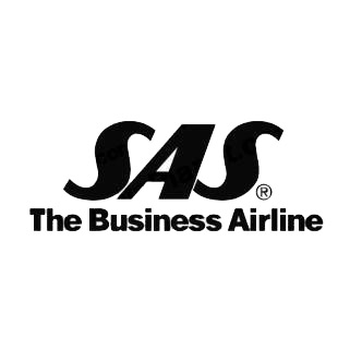 SAS The business Airline logo listed in famous logos decals.