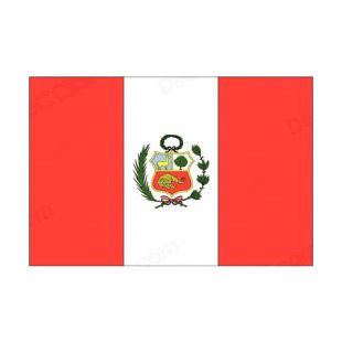Peru flag listed in flags decals.