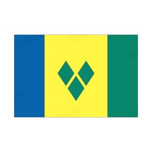 Saint Vincent and the Grenadines flag listed in flags decals.