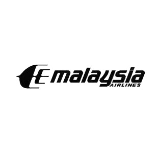 Malaysia airlines logo listed in famous logos decals.