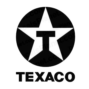 Texaco logo listed in famous logos decals.