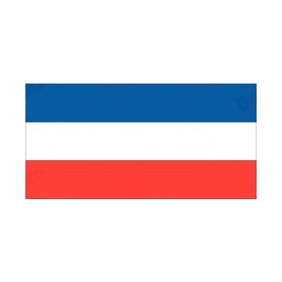 Yugoslavia flag listed in flags decals.