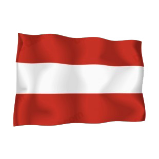 Austria waving flag listed in flags decals.