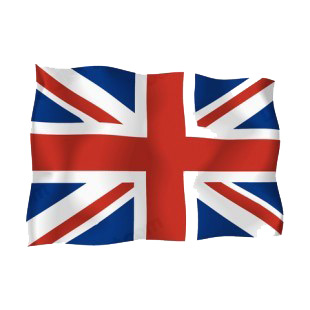 United Kingdom waving flag listed in flags decals.