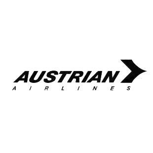 Austrian airlines logo listed in famous logos decals.