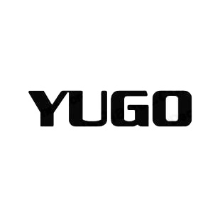Yugo logo listed in famous logos decals.