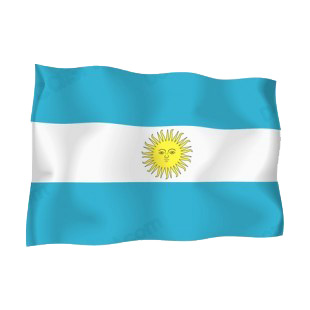 Argentina flag listed in flags decals.