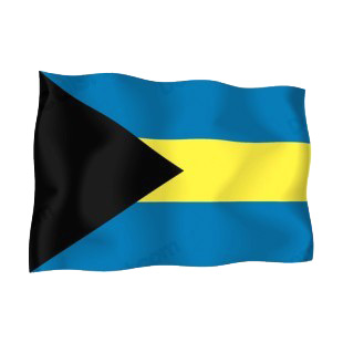 Bahamas waving flag listed in flags decals.