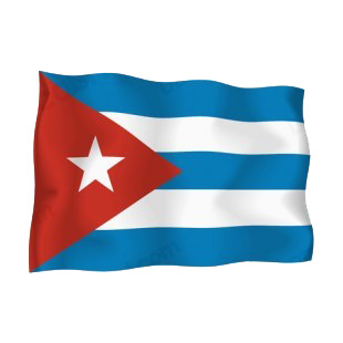 Cuba flag listed in flags decals.