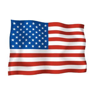 United States waving flag listed in flags decals.
