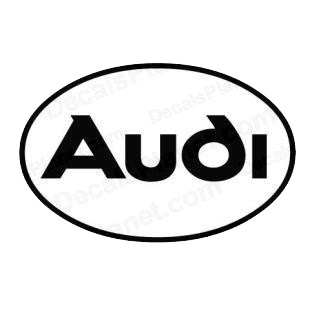 Audi logo listed in famous logos decals.