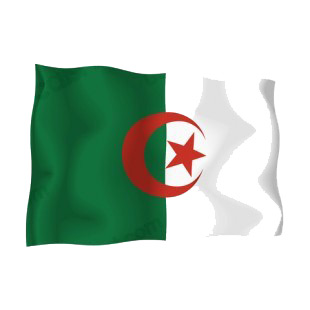Algeria waving flag listed in flags decals.