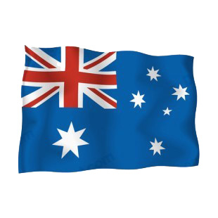 Australia waving flag listed in flags decals.