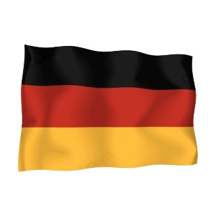 Germany waving flag listed in flags decals.