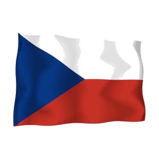 Czech Republic waving flag listed in flags decals.